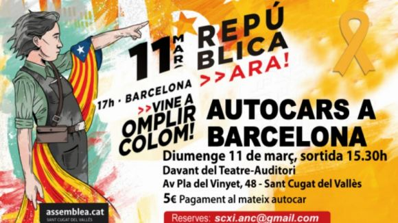 L'ANC de Sant Cugat posa a disposició autocars per anar a la manifestació de diumenge a Barcelona