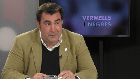L'expresident del Club Rugby Sant Cugat, Mauri Benito al plató de Cugat.cat
