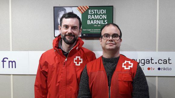 D'esquerra a dreta: David Bea i Daniel Raya