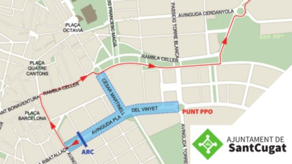 Imatge del mapa amb les zones afectades