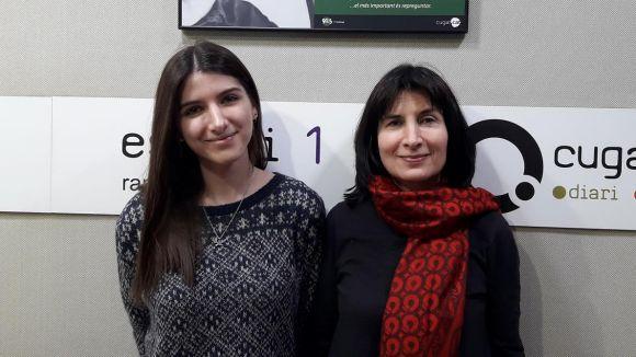 D'esquerra a dreta: Mariona Pla i Cristina Vallejo, equip responsable de l'espai Blaumandarina