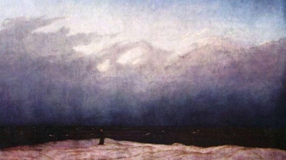 'Monjo al costat del mar' de Caspar Friedich és una representació de l'ésser davant la immensitat