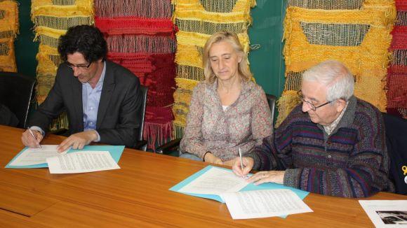 La signatura de l'acord s'ha fet a la sala Ginesta de l'ajuntament / Foto: Premsa Sant Cugat