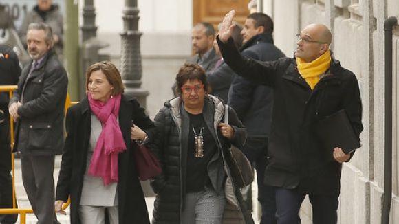 Forcadell, Bassa i Romeva a Madrid / Foto: ACN