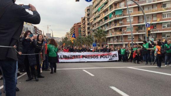Presència santcugatenca a la concentració de Barcelona contra la detenció de Puigdemont