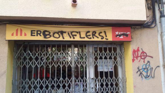 Acció vandàlica a la seu d'ERC a Sant Cugat