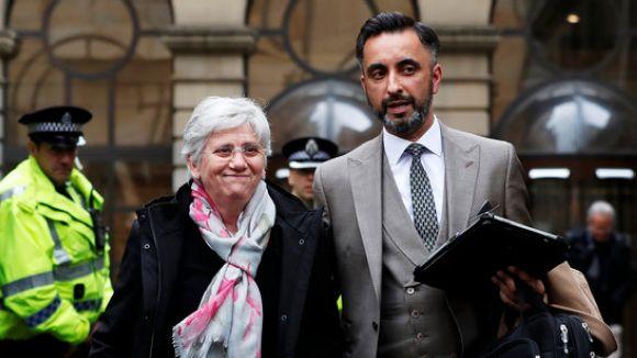 Clara Ponsatí, en llibertat condicional amb mesures cautelars