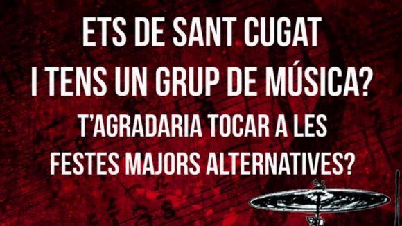 La Festa Major Alternativa fa una crida als grups santcugatencs per actuar en la 10a edició