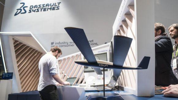 L'estand de Dassault Systèmes, en una fira tecnològica / Foto: Dassault Systèmes