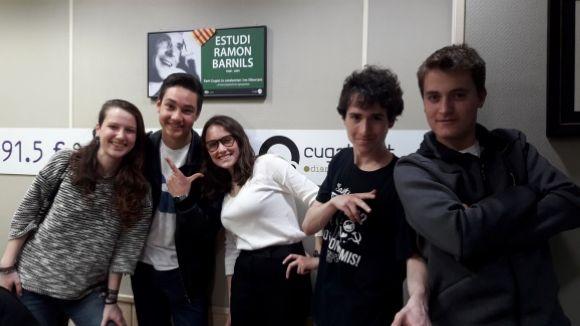 D'esquerra a dreta, Gina Cahís, Marc Ledesma, Irene Riart, Isaac Calvís i Marc Berruezo