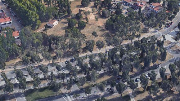 Els terrenys on s'ubicarà la futur biblioteca / Foto: Google Maps