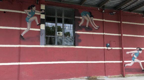 La Casa de Cultura estrena mural per posar en valor el talent femení i contra 'els obstacles'