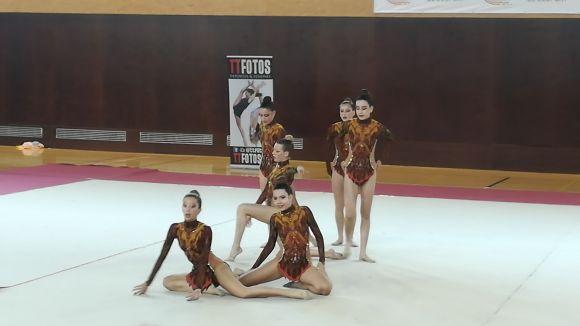 Les gimnastes han actuat al pav 3 de la ZEM de la Rambla del Celler