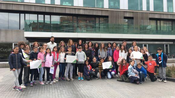 Els alumnes han assistit a l'acte de cloenda de la campanya