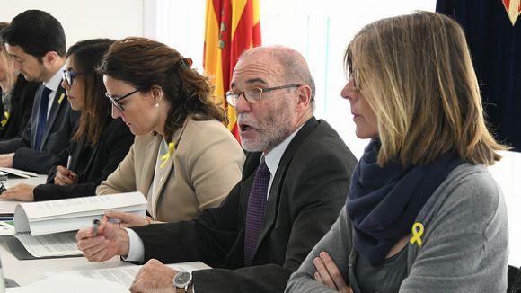 Ramon Palacio, aquest dilluns a l'ajuntament / Foto: Ajuntament