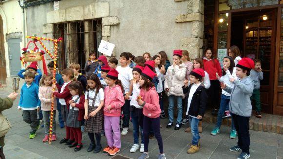 La coral infantil de Fusió ha voltat pels carrers de la ciutat / Foto: Escola Fusió
