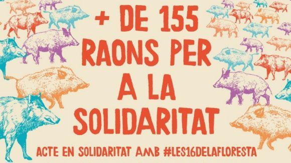 Acte de suport als veïns de la Floresta investigats per la vaga del 8N amb música i 'paella per 155'