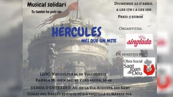 El musical solidari 'Hèrcules, més que un mite' es representa aquest diumenge a Valldoreix