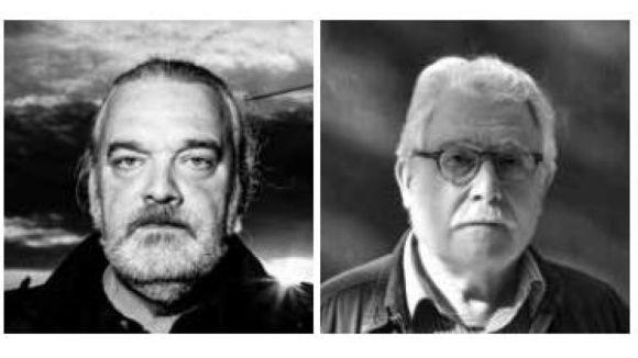 Els poetes Joan Vigó i Josep R Bach