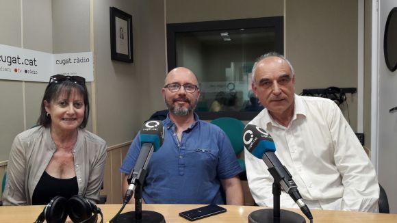 D'esquerra a dreta Núria Vallès, Xavier Sunyer i Josep Sala