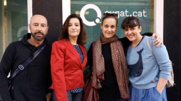 D'esquerra a dreta, Joan Carles Busquets, Gemma Navarra, Laura López-Osornio i Ana Pérez