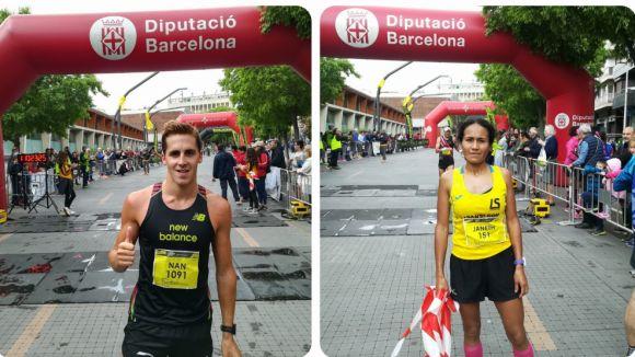 Nan Oliveras i Janeth Becerra, guanyadors de la Mitja Marató