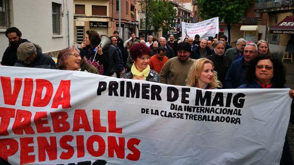 La manifestació ha anat sumant gent pels carrers de Sant Cugat