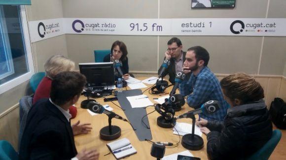 Els tertulians d'aquest dimecres amb la directora de Cugat.cat, Mònica Lablanca