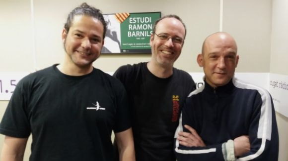 D'esquerra a dreta Raül Fernández, Roger Ricart i Marc Molina
