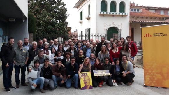 Mireia Ingla, amb l'assemblea d'ERC, serà candidata per tercera vegada / Foto: ERC