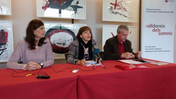 Susanna Herrada, Marcènia Baqués i Quim Castelló durant la presentació