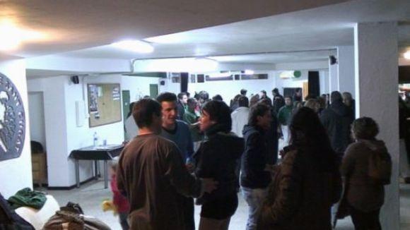 Els Castellers de Sant Cugat, amb el local social inhabilitat