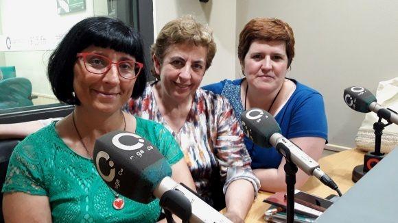 D'esquerra a dreta, Iolanda Nieves, Núria Tomàs i Noemí Royes