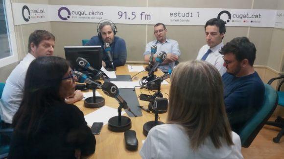 Els tertulians d'aquest dimecres amb el subdirector de Cugat.cat, Joan Miquel Fernández