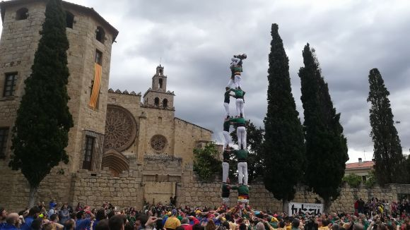 Els castells de 8 marquen la Diada de Sant Ponç dels Gausacs
