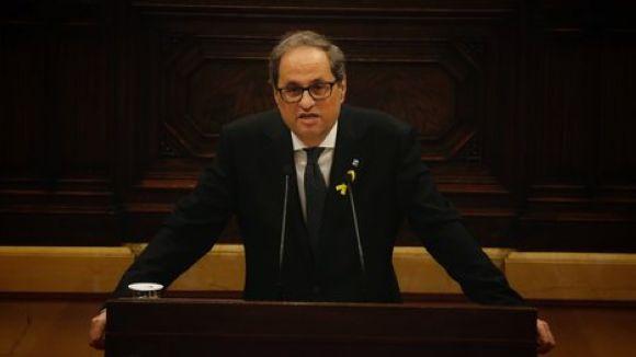 El president Torra, en el seu primer discurs al Parlament / Foto: ACN