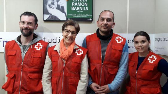 D'esquerra a dreta: David Bea, Dolors Pascual, Santi Martín i Marina de San Francisco