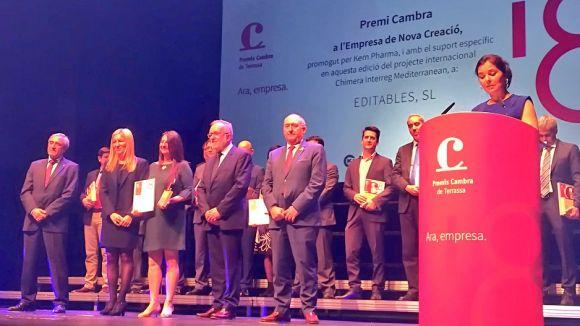 Entrega del premi a Editables / Foto: Twitter Mayte Pérez