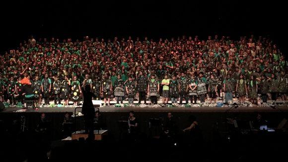 Alumnes de tot el Vallès Occidental omplen el Teatre-Auditori amb la Cantània 2018