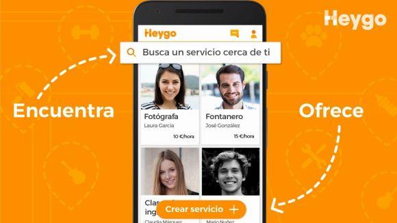 L'app posava en contacte particulars que oferien diferents serveis / Foto: https://twitter.com/HeygoApp/