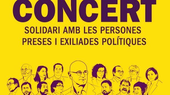 El parc de Ramon Barnils acollirà l'1 de juny un concert solidari a favor dels 'presos i exiliats polítics'