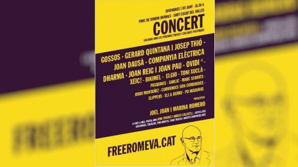 Gossos, Gerard Quintana i Joan Dausà, a Sant Cugat per al concert de suport als 'presos polítics'
