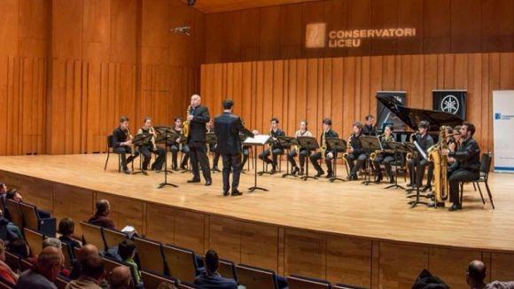 L'Ensemble de Saxòfons del Conservatori del Liceu protagonitza l'acte / Foto: Facebook AEU