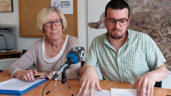 Roser Casamitjana i Ramon Gutiérrez han presentat la moció aquest dilluns