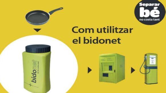 Sant Cugat habilitarà més punts de recollida d'oli domèstic usat