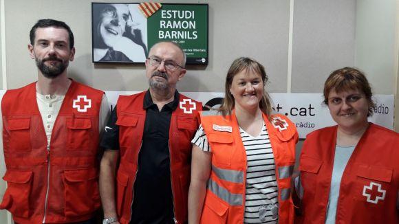 D'esquerra a dreta: David Bea, Albert Gonzàlez, Eva Benito i Mireia Muñoz