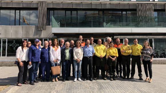 Clam conjunt a Sant Cugat per seguir amb la 'bona feina' contra els incendis