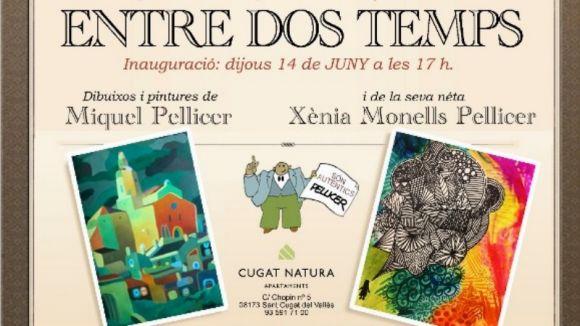 Miquel Pellicer i Xènia Monells presenten aquest dijous dibuixos 'Entre dos temps'