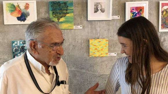 Miquel Pellicer i Xènia Monells enfronten les obres de dues generacions en una exposició