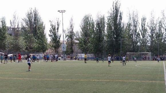 El futbol ha estat protagonista amb el torneig de cinc escoles de Sant Cugat